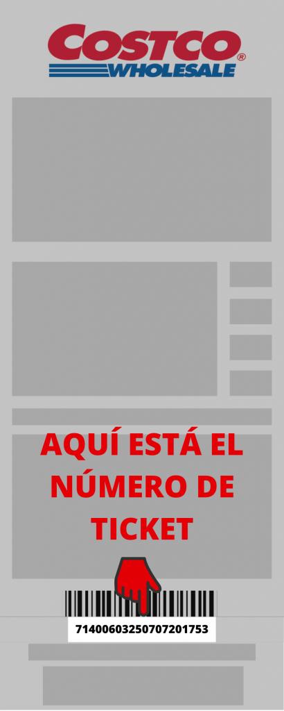 Costco PASO 2 Ingresar RFC y Número de Ticket