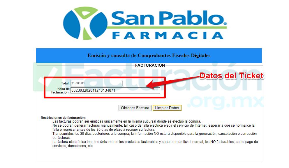 Farmacia san pablo PASO 3