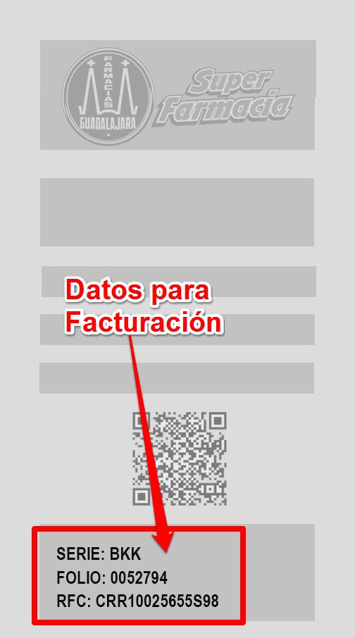 Farmacias guadalajara PASO 1. Identifica los datos defacturación