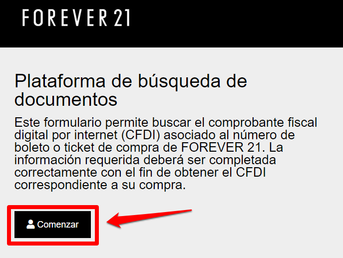 Forever 21 PASO 2