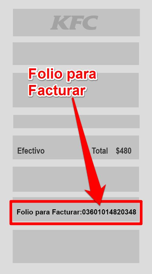 Kfc PASO 1 Identifica el Folio para Facturar