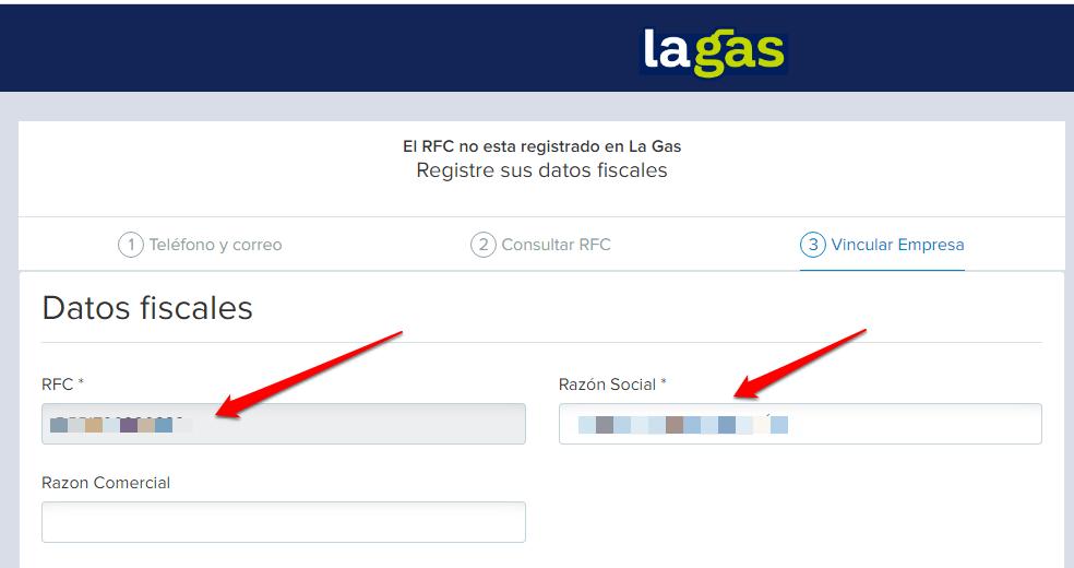 La gas PASO 3. Realiza tu Facturade La Gas