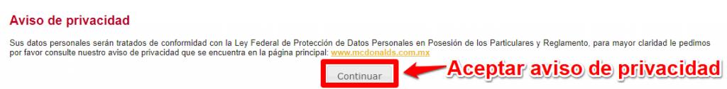 Mcdonalds PASO 3