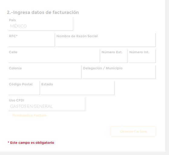 Oxxo PASO 4 Datos para facturar