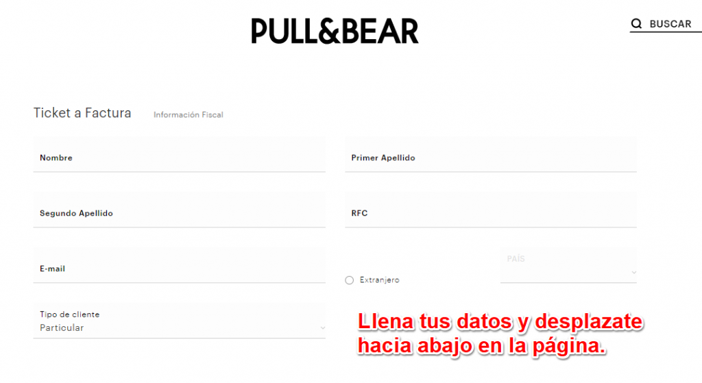Pull and bear  PASO 2