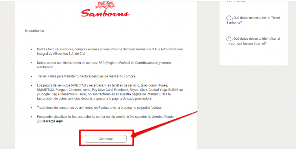 Sanborns PASO 2