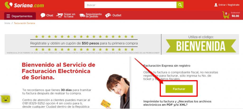Soriana facturación logo
