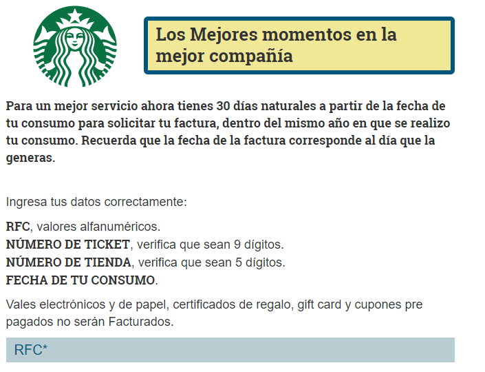 Starbucks PASO 1