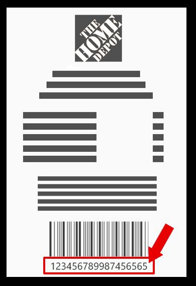 The home depot PASO 1. identifica los datos del ticketNúmero de Compra